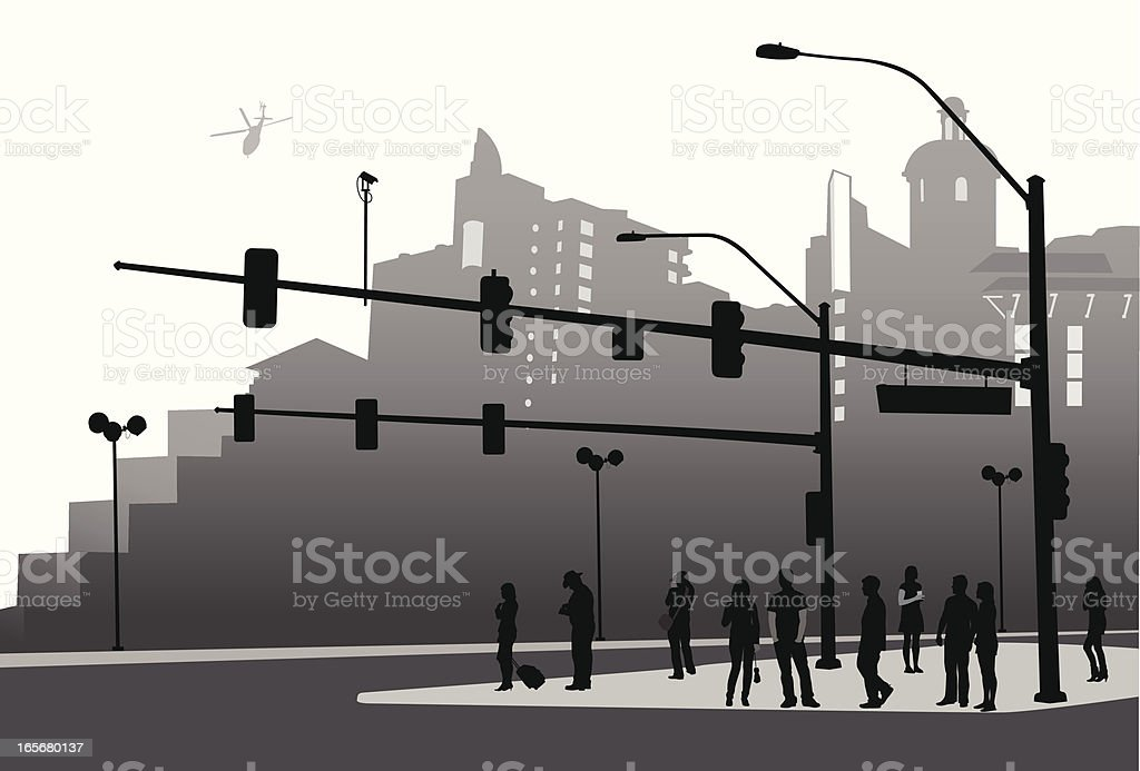 City Scenic Vector Silhouette royalty-free stock vector art