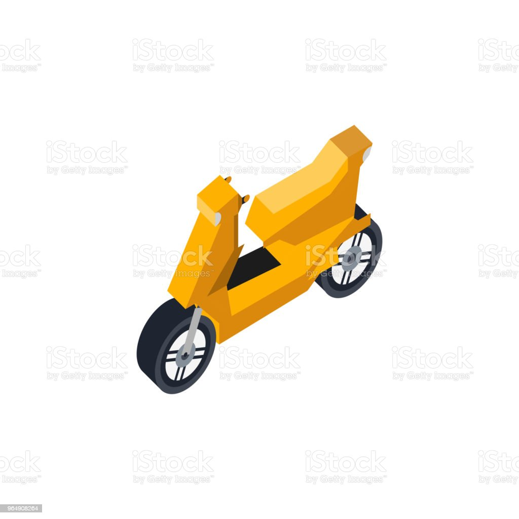 City scooter isometric 3D element royalty-free city scooter isometric 3d element stock vector art & more images of car