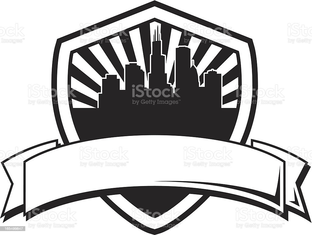 City Shield Banner Royalty Free Stock Vector Art Amp More Images