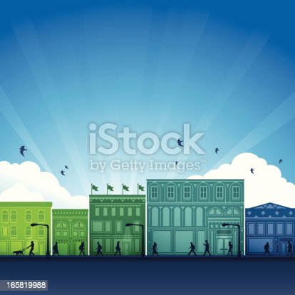 istock City Shopping District 165819988