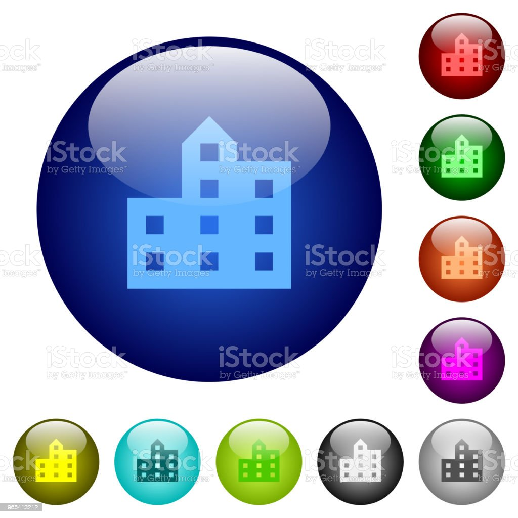 City silhouette color glass buttons royalty-free city silhouette color glass buttons stock vector art & more images of apartment