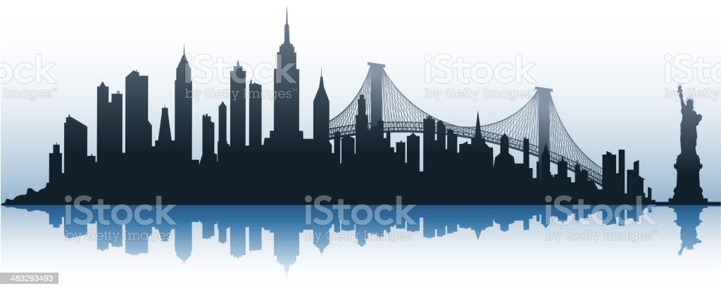 city silhouette vector art illustration