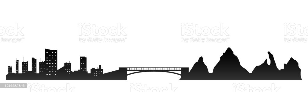 City Skyline Flat Style Stock Vector Art & More Images of