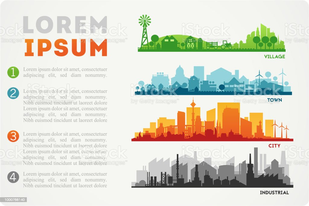 City Skyline Illustration - Royalty-free Agricultura arte vetorial