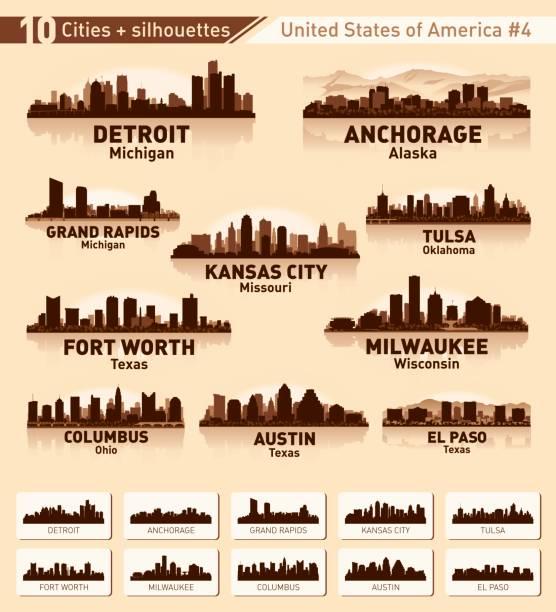 Royalty Free Detroit Michigan Clip Art Vector Images