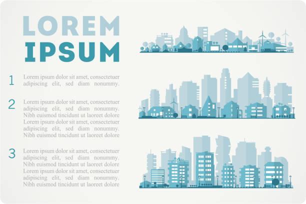 die skyline der stadt macht - smart city stock-grafiken, -clipart, -cartoons und -symbole