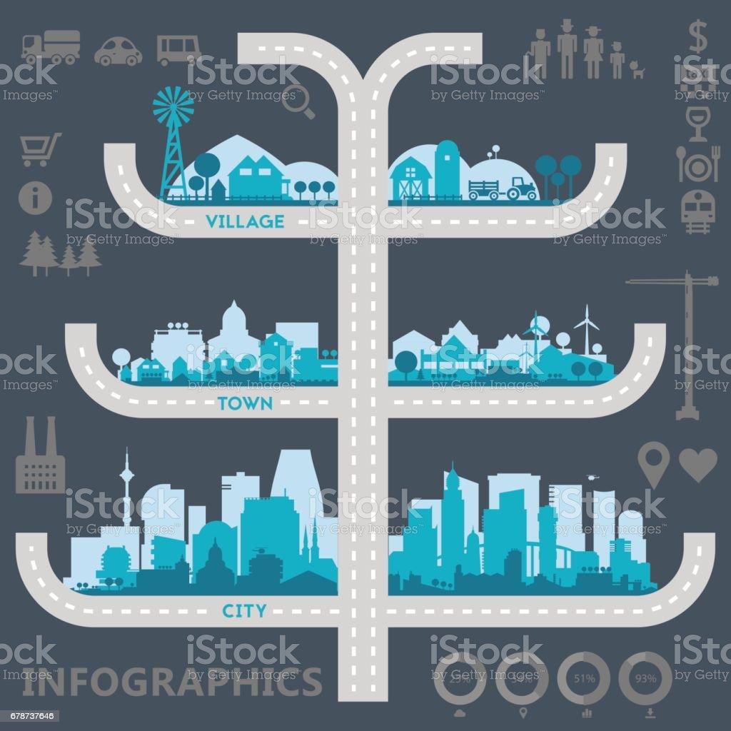 La ville donne la ville donne – cliparts vectoriels et plus d'images de application mobile libre de droits