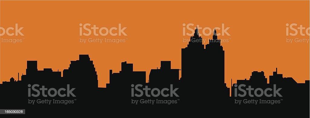 city skyline ( vector ) royalty-free stock vector art