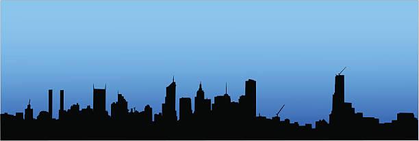 city skyline - melbourne stock illustrations