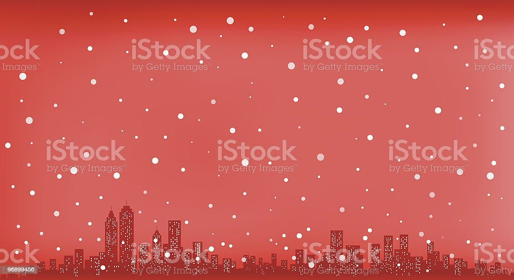 City Skyline with snowing sky and at Christmas new year royalty-free city skyline with snowing sky and at christmas new year stock vector art & more images of back lit