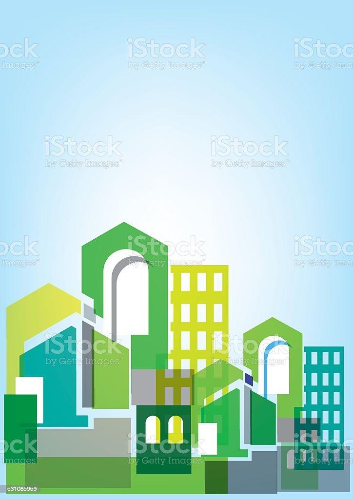 City Skylines background. Vector illustration vector art illustration