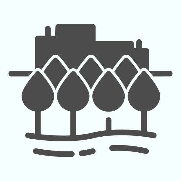ilustrações de stock, clip art, desenhos animados e ícones de city solid icon. town buildings vector illustration isolated on white. urban architecture glyph style design, designed for web and app. eps 10. - isolated house, exterior