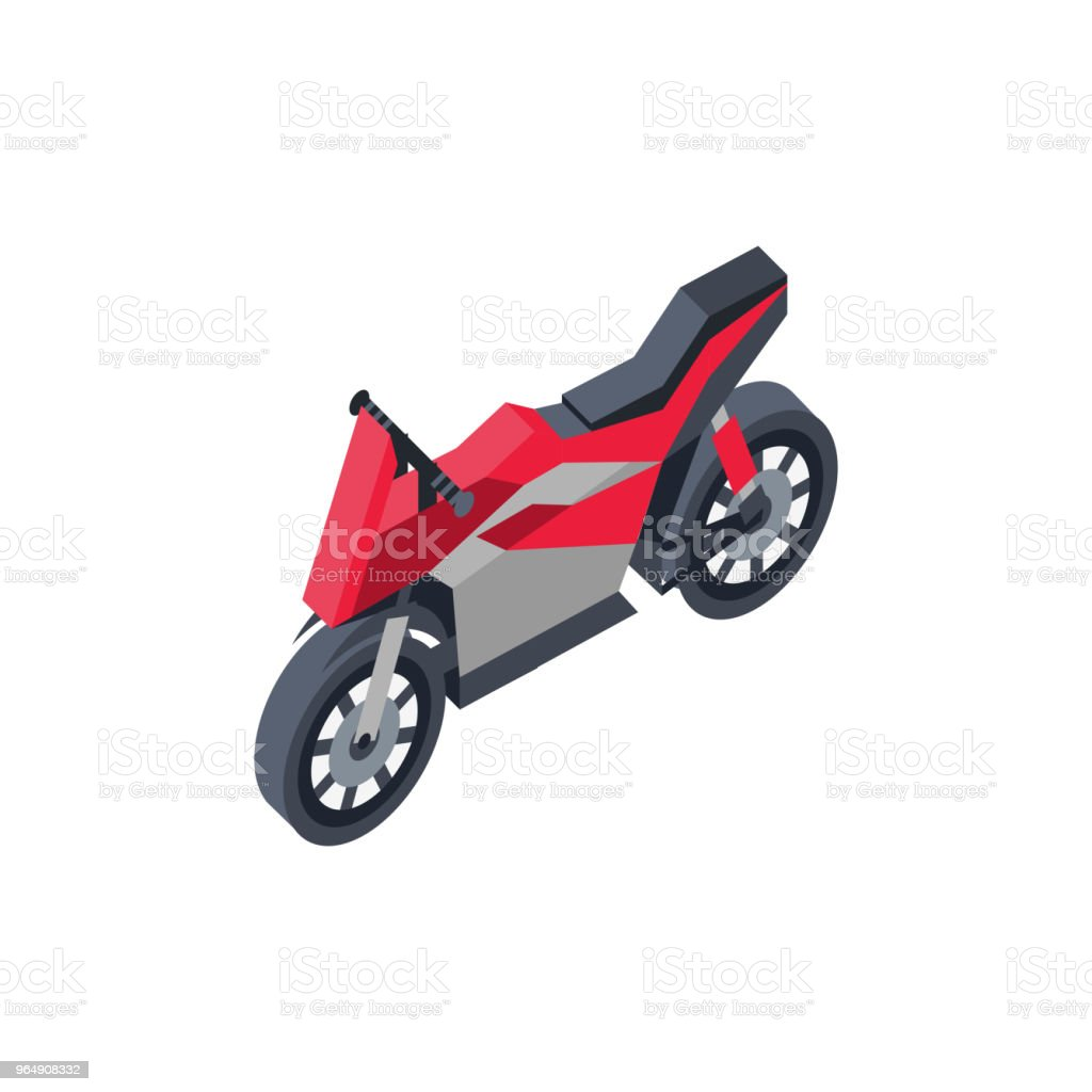 City sportbike isometric 3D element royalty-free city sportbike isometric 3d element stock vector art & more images of car