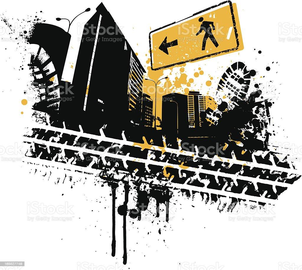 City Stomp royalty-free stock vector art