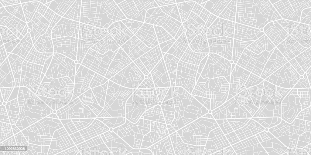 City Street Map - Royalty-free Abstrato arte vetorial