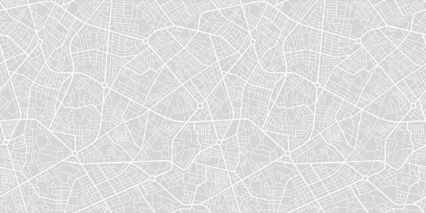mapa ulic miasta - przewóz stock illustrations