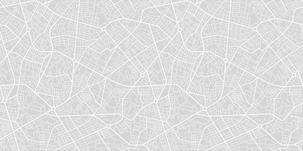 illustrazioni stock, clip art, cartoni animati e icone di tendenza di city street map - automotive