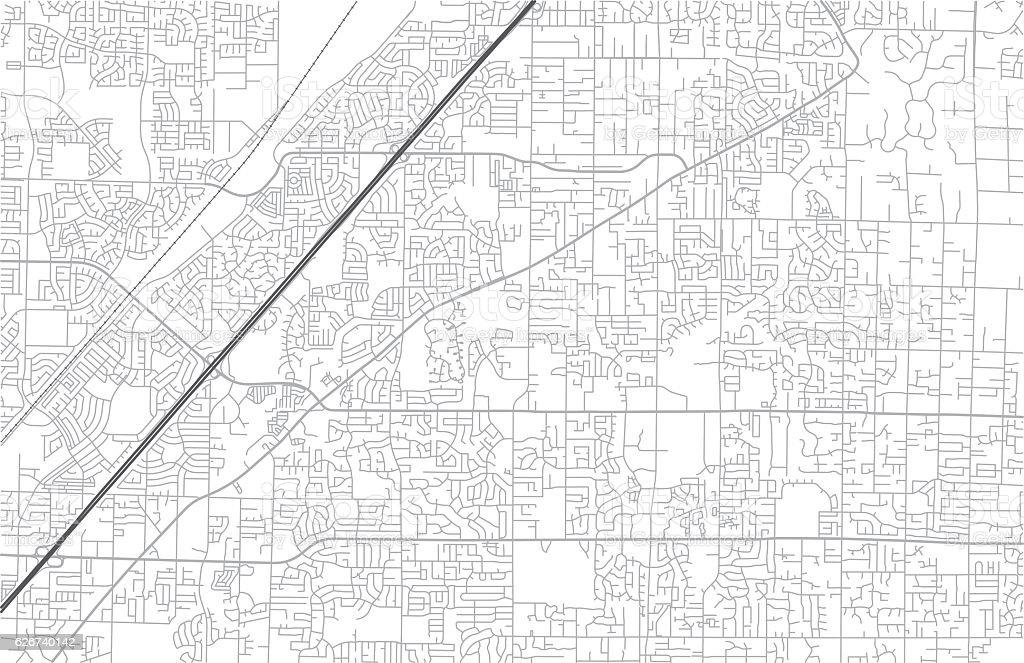 City Street Map vector art illustration