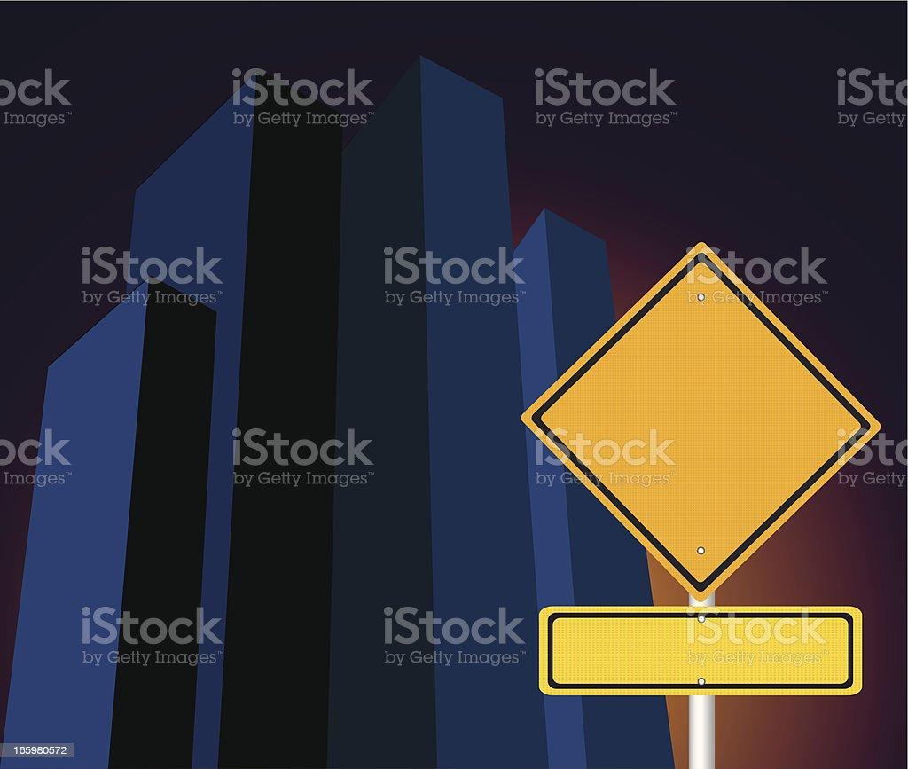 City Street road sign - VECTOR royalty-free stock vector art