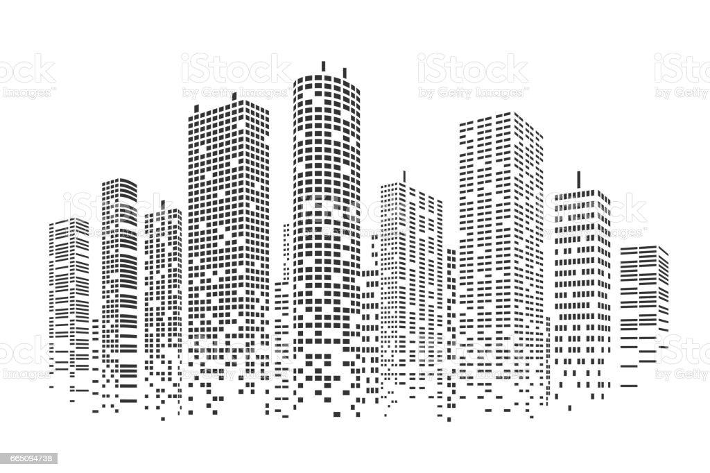 City stylized background