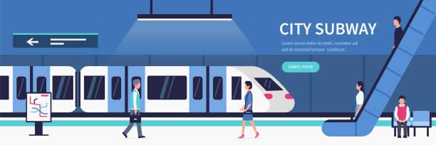 illustrations, cliparts, dessins animés et icônes de métro de la ville - métro