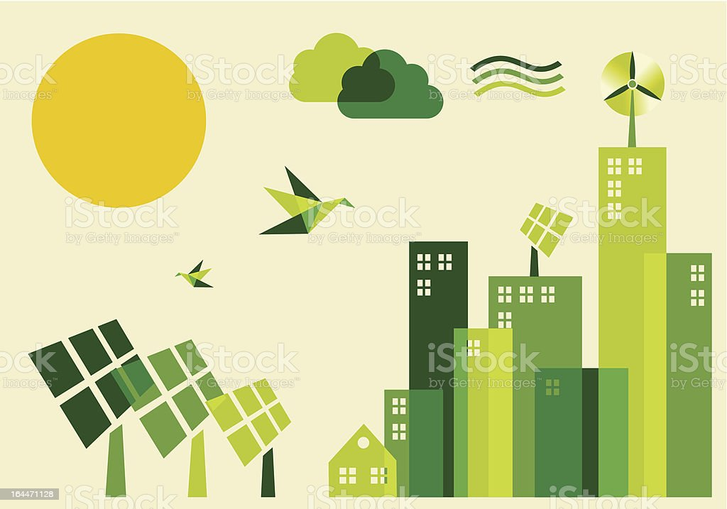 City sustainable development concept illustration royalty-free stock vector art