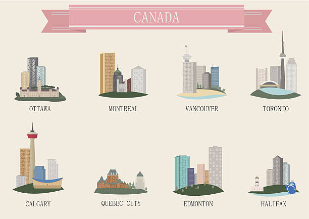 city symbol. canada - toronto stock illustrations