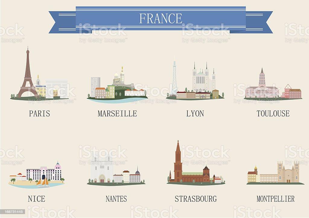 Symbole de la ville. La France - Illustration vectorielle