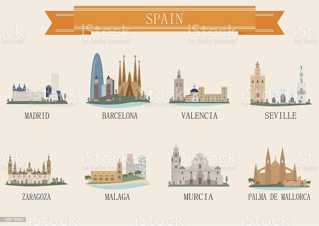 Símbolo de la ciudad. España - ilustración de arte vectorial
