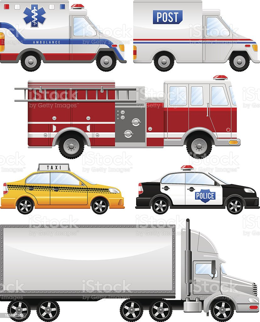 City traffic royalty-free stock vector art