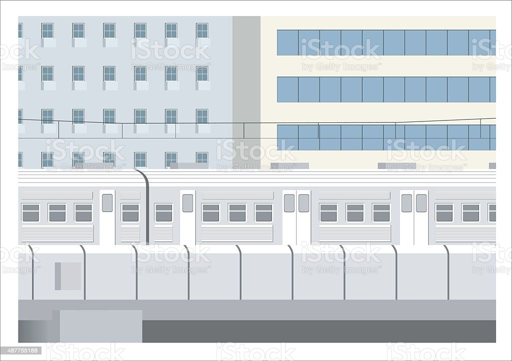 city train illustration vector art illustration
