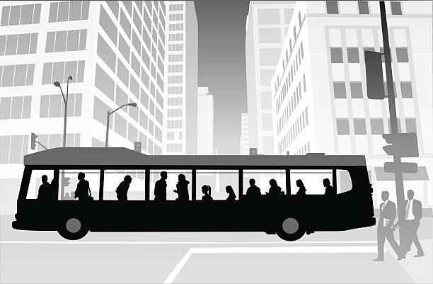 City Transit Skyscrapers vector art illustration