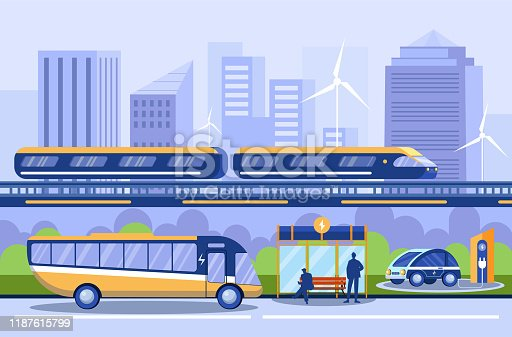Free download of Electric Metro Bus Road Sign Station clip