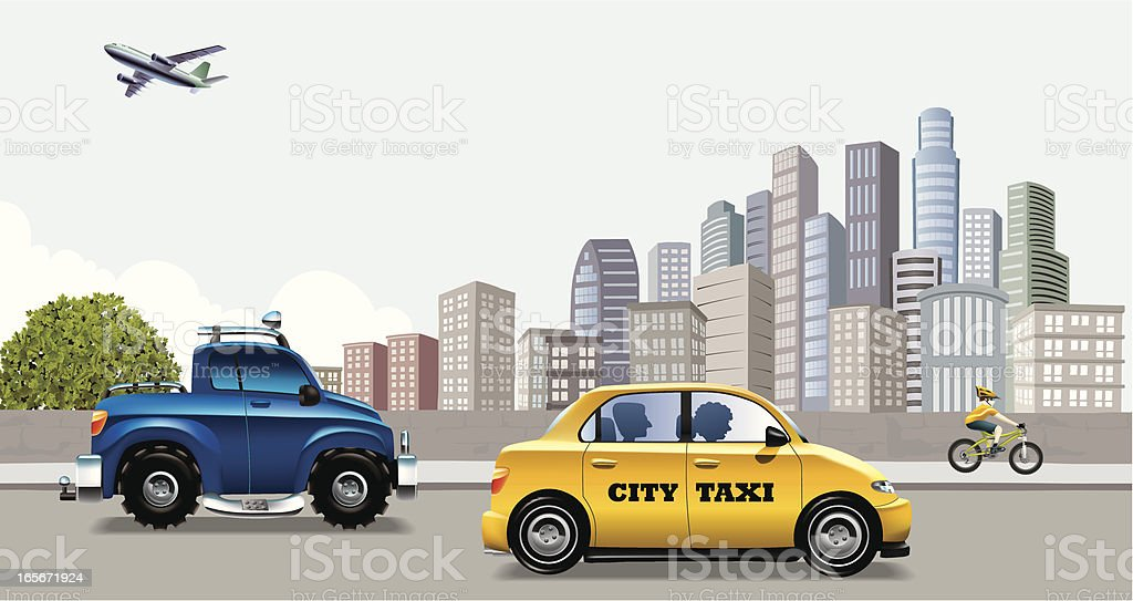 City Transportation royalty-free stock vector art