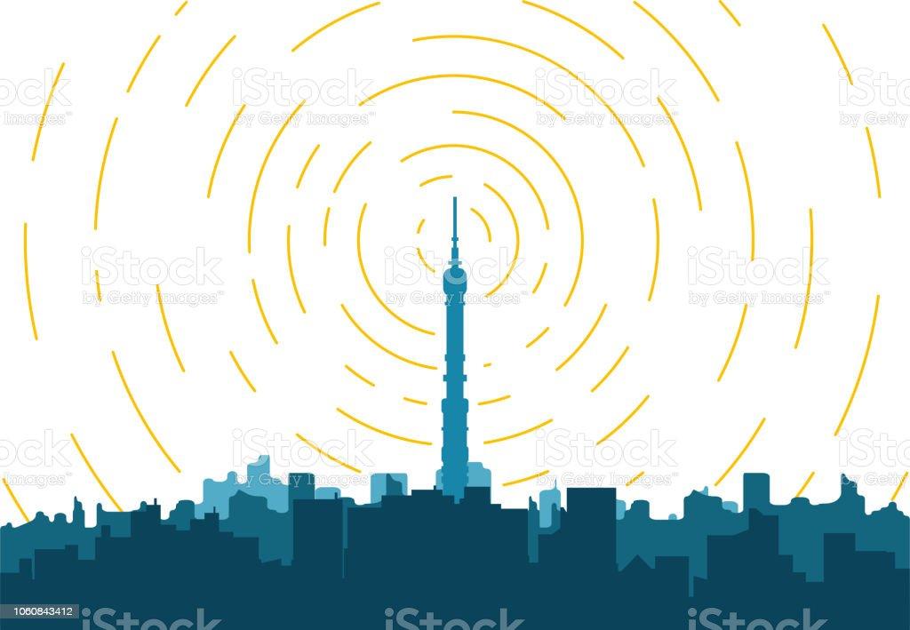市テレビ塔 つながりのベクターアート素材や画像を多数ご用意 Istock