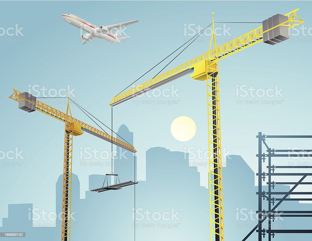 City Under Construction royalty-free stock vector art