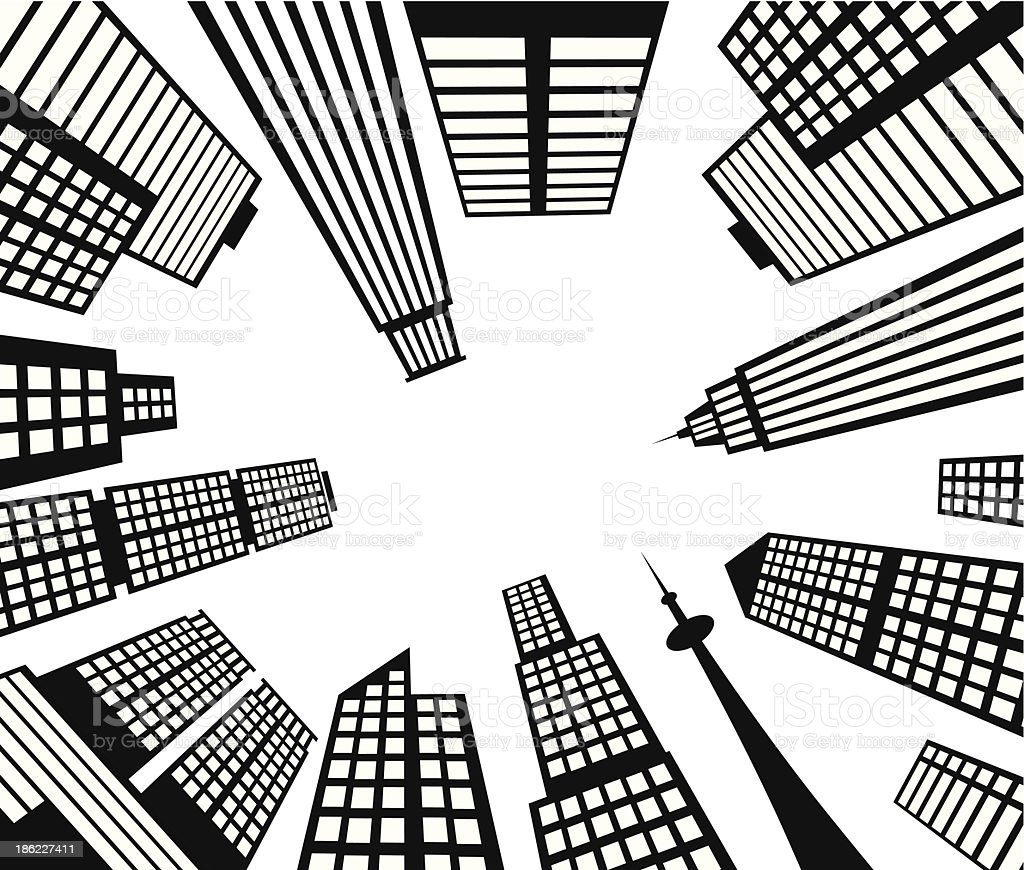 Mit Blick auf die Stadt – Vektorgrafik