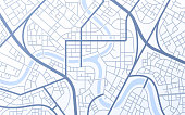 City urban roads and streets abstract map downtown district map.