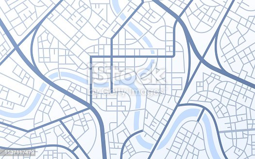 istock City Urban Streets Roads Abstract Map 1137117479