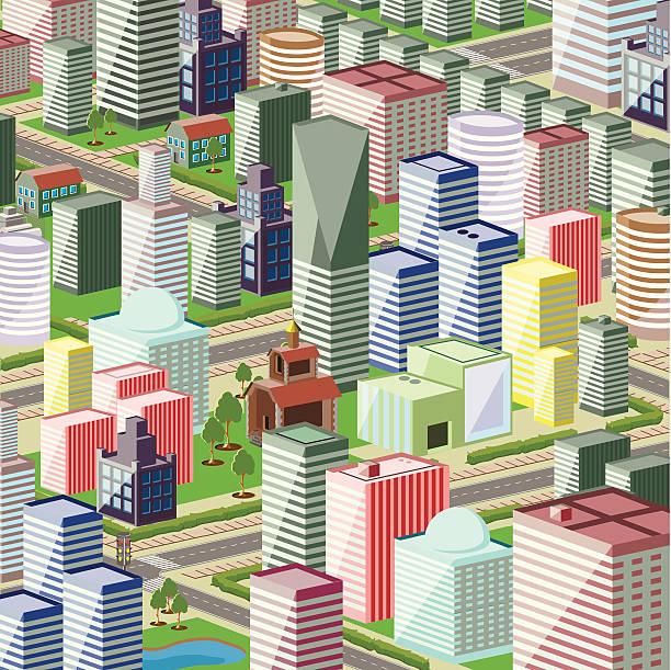 город - иллюстрации на тему архитектура stock illustrations