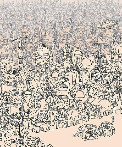 City. vector art illustration