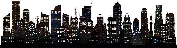 詳細です。街(建物は、可動式の完了) - 都市 モノクロ点のイラスト素材/クリップアート素材/マンガ素材/アイコン素材