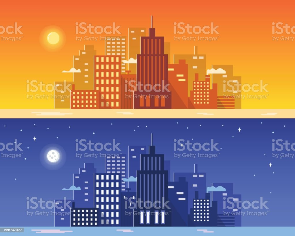 City vector art illustration