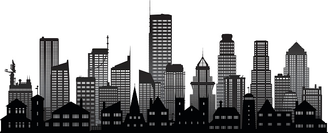 City (All Buildings Are Separate and Complete)