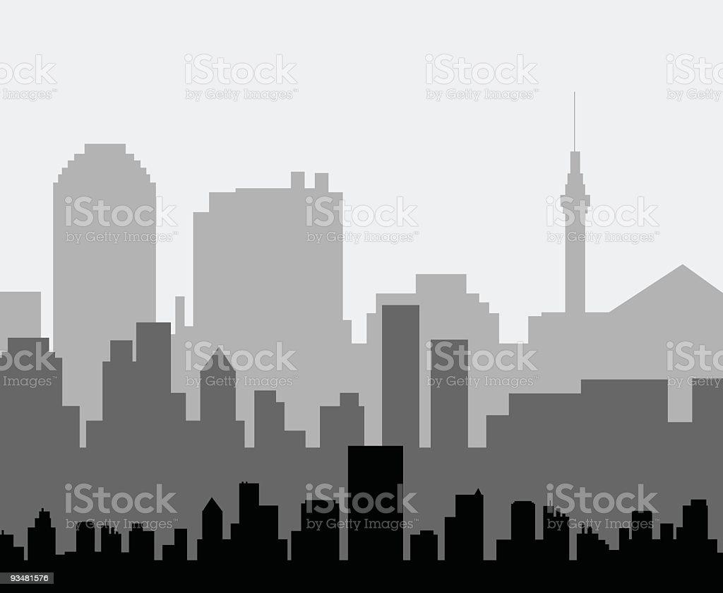 도시 - 로열티 프리 0명 벡터 아트