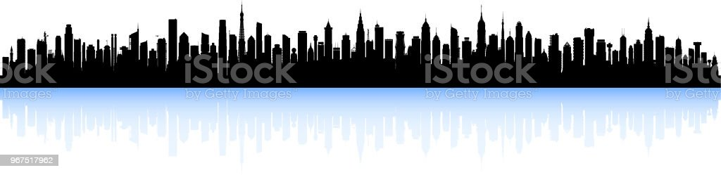 City (All Buildings Are Complete and Moveable) vector art illustration