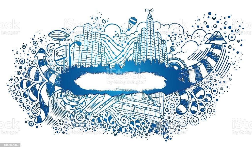 City-Life Banner royalty-free stock vector art