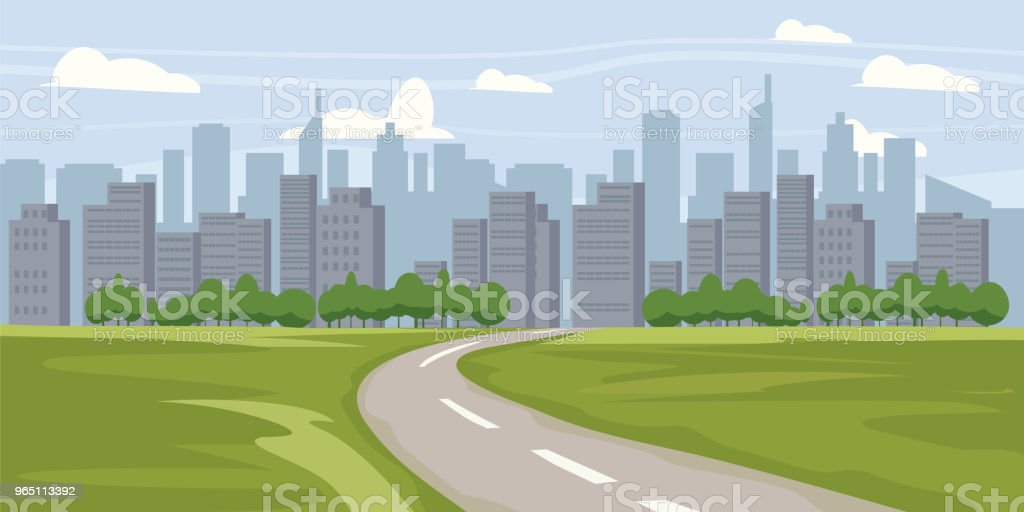 Cityscape background. Buildings silhouette cityscape. Modern architecture. Urban landscape. Horizontal banner with megapolis panorama. Vector illustration vector art illustration