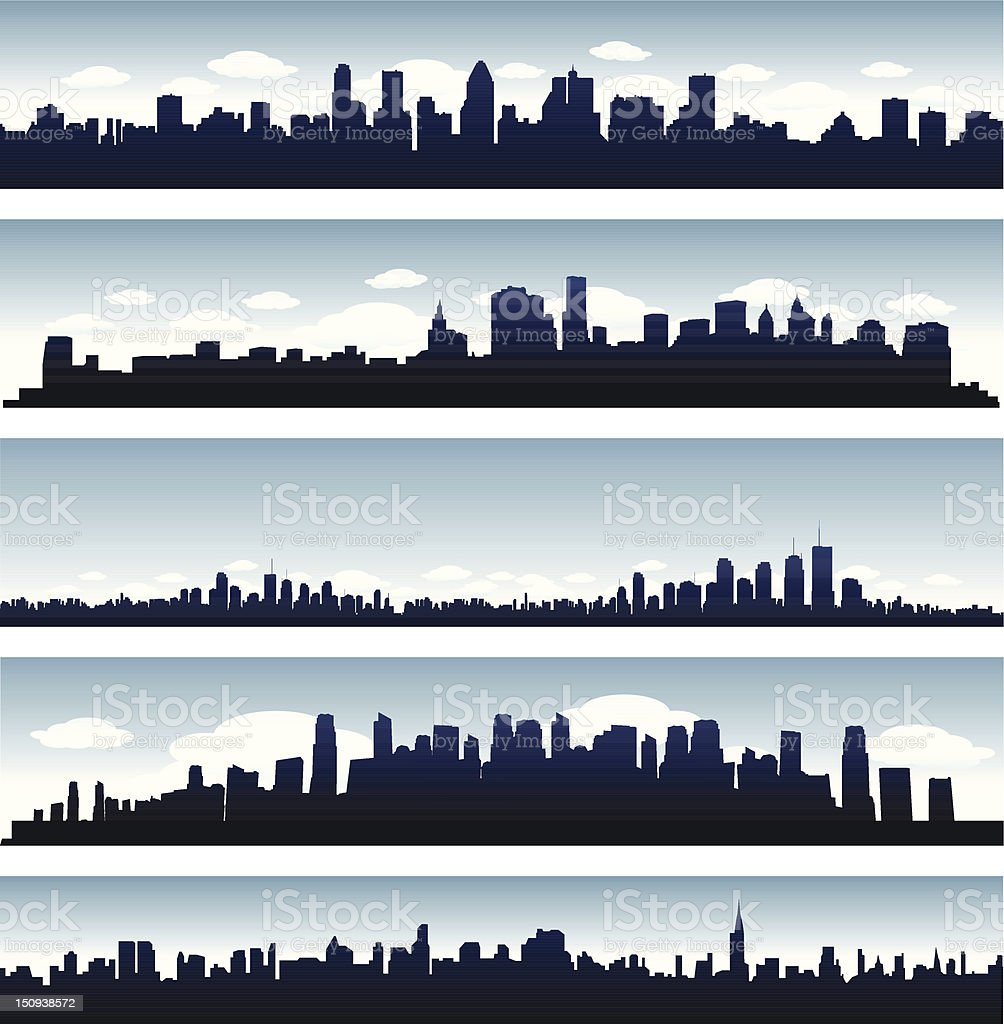 Cityscape background vector art illustration