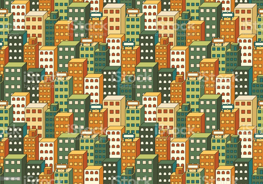 Cityscape Colour Background vector art illustration